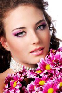 Maquilhagem rosa
